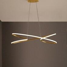 NEO Gleam Позолоченные современные светодиодные подвесные светильники для столовой, кухни, бара, магазина, потолочные лампы 90-260 в