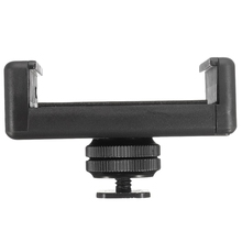 cnc aluminum alloy 1 inch ball head mount adapter with m5 screw holes for diving sports dslr camera bracket tripod clip adapters 1/4 Inch Flash Hot Shoe Screw Adapter Tripod Mount Phone Clip Holder For Dslr Camera