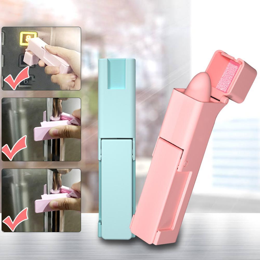 5PCS No Touch Open Door Assistant Portable Anti Germ Elevator Button Drawer Door Handle Assistant Safety Contactless Door Opener