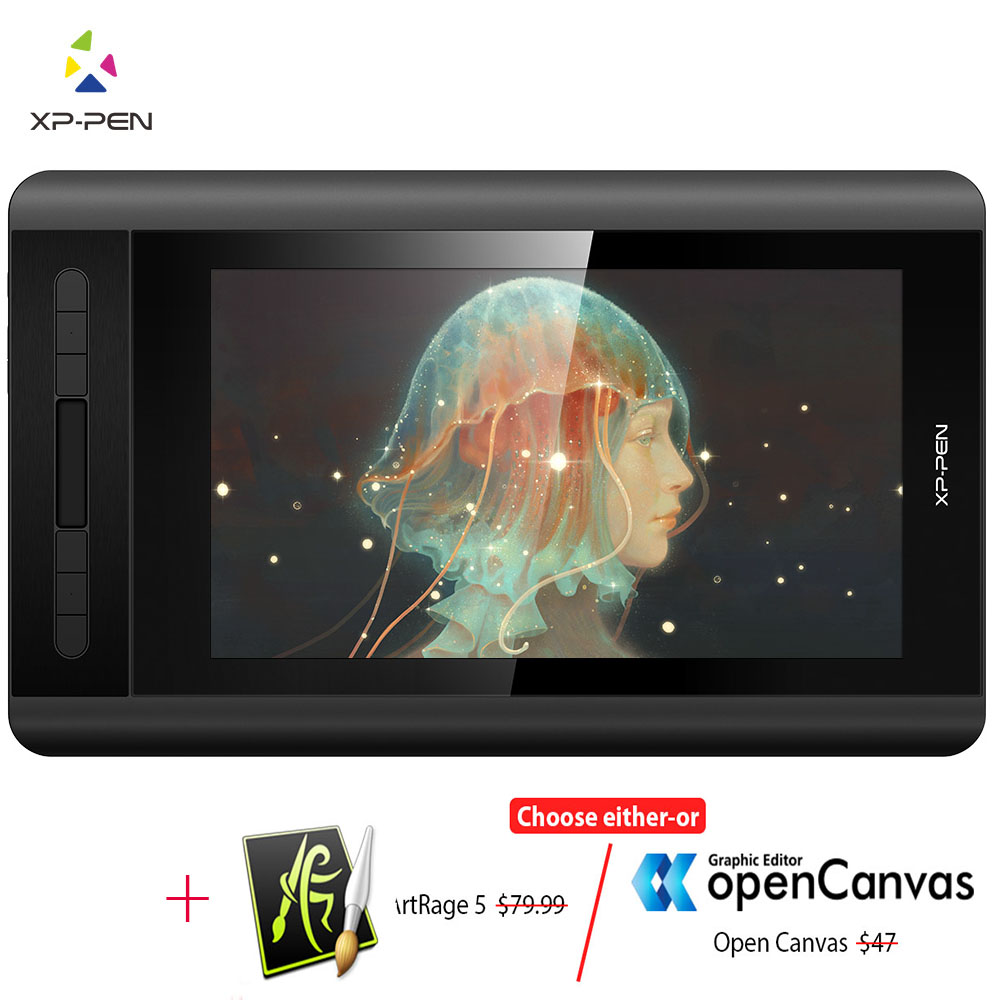 XP-Pen Artist 12 Graphic tablet Drawing Tablet Graphic Monitor Animation Digital 1920 X 1080HD IPS  Shortcut Keys and Touch Pad tartan