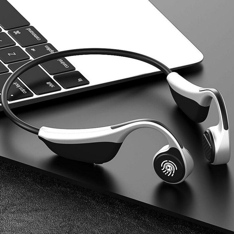 Casque Bluetooth à conduction osseuse tactile technologie noire sport casque Bluetooth sans fil qualité sonore 3D avec micro