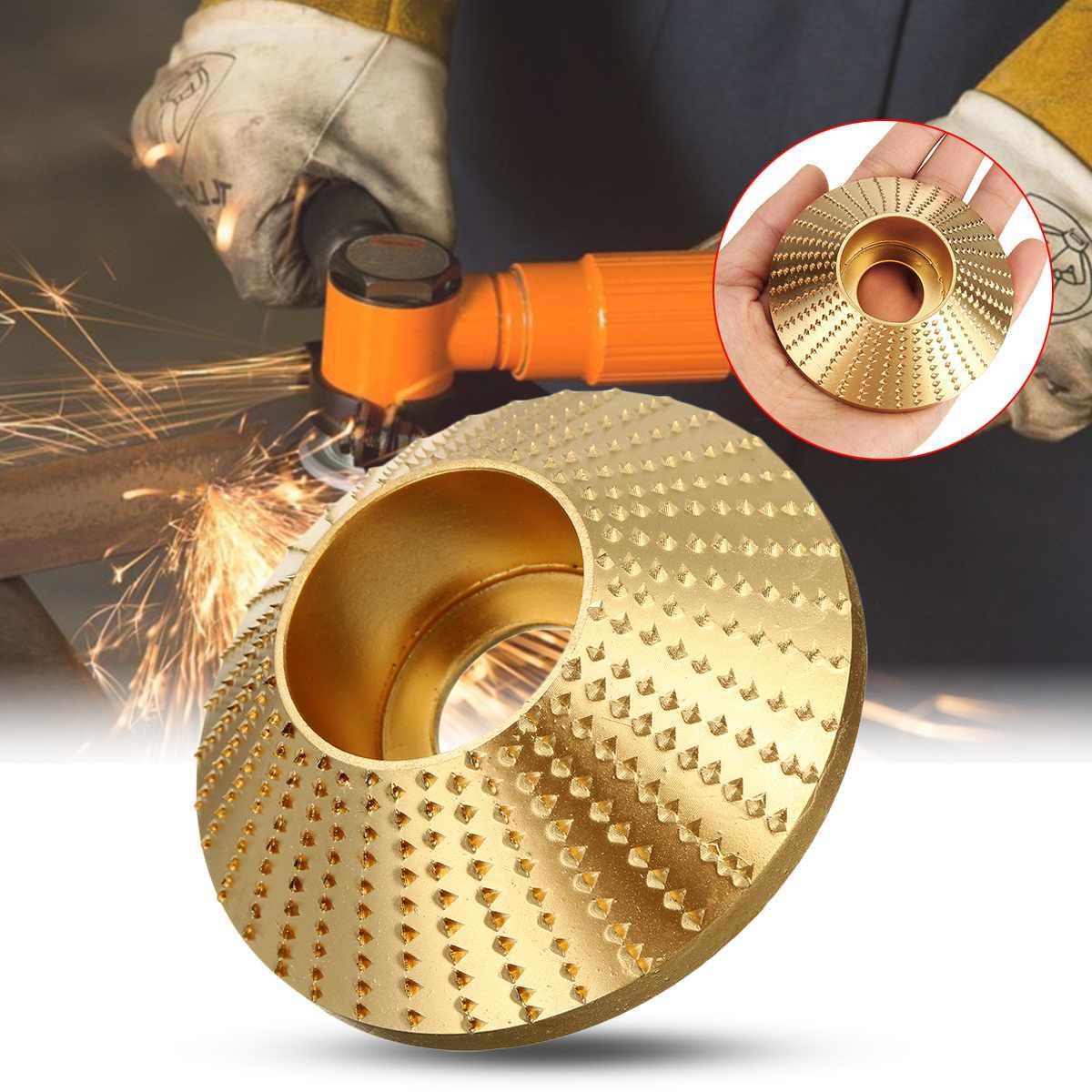 Wood Grinding Wheel Angle Grinder Disc Wood Carving Disc Sanding Abrasive Tool 75/85/100mm Silver/gold