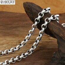 6 10 мм 100% Серебро 925 пробы мужское ожерелье винтажное из