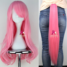 Putri Unicorn Fluttershy Cosplay Wig + Ekor Set Halloween Cosplay Pesta Anak-anak Dewasa Perlengkapan Pesta My Little Pony Fluttershy(China)