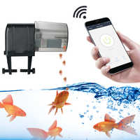 WIFI Programmable Automatic Fish Feeder Aquarium Tank Portable Fish Feeder Tools Timer Feeder Auto Fish Food Dispenser