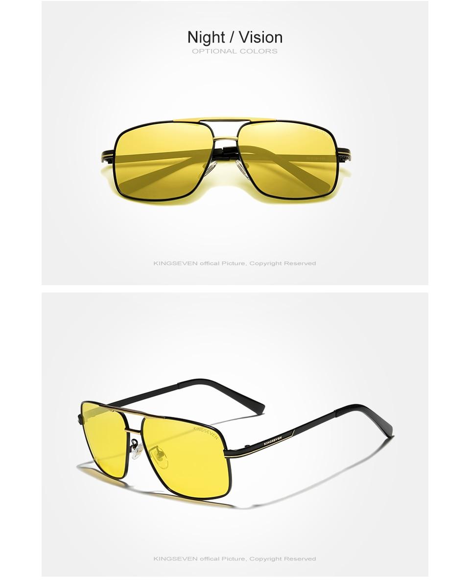 KINGSEVEN NEW Fashion Men's Glasses Polarized Fishing Driving Sunglasses Brand Men Women Stainless steel Material Gafas De Sol
