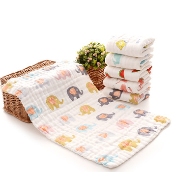 25*45cm 100% gauze cotton baby handkerchief square towel muslin cotton infant face towel wipe cloth Appease Towel 2019