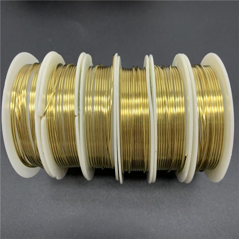 Медная проволока для рукоделия, золотистая медная проволока для рукоделия, аксессуары для шнура 0,3/0,4/0,5/0,6/0,8/1 мм