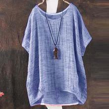 Túnica de mujer Camisa de verano de gasa Blusa femenina Blusas Retro a cuadros camisas Camisa femenina holgada Casual Blusa Vintage