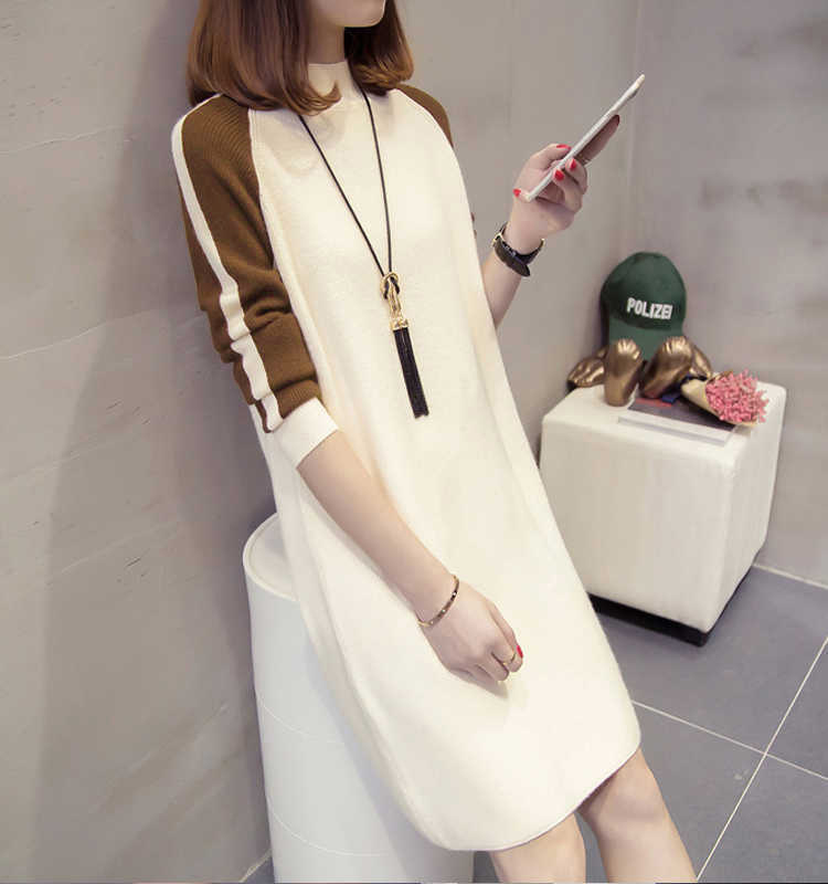 A Large Amount Now Hot Selling Hoodie Dress Brushed And Thick Autumn And Winter Mid-length Korean-style Loose-Fit Slimming 8988