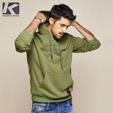 KUEGOU 2019 sonbahar pamuk yeşil baskı mektup Hoodie erkek modası Hoody Hip Hop japon Streetwear erkek Hoodies tişörtü 0940