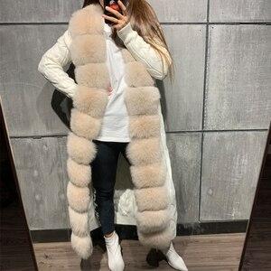 Image 5 - Pelz pullover fuchs pelz pullover lange 120 125cm länge fuchs pelz strickjacke