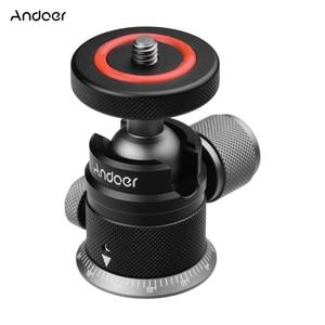 Image 1 - Andoer חצובה כדור ראש הר פנורמי 360 ° מסתובב 180 ° להעיף אוניברסלי 1/4 הרכבה עבור DSLR ראי מצלמה חצובה הרכבה