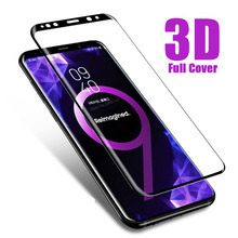 S 9 Glas 3D Curved Tempered Glass Screen Protector For Samsung Galaxy S9 S8 S7 S6 edge plus note 9 S 9 8 7 Cover Protective Film screen protection tempered glass film for samsung galaxy note 8 9 s9 s8 plus s7 pet explosion proof film full screen soft film