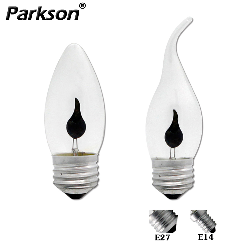 Edison Flame LED Candel Light Bulb E27 E14 AC 220V 3W Tip / Tail Retro Vintage Led Filament Lamp Decor Lampda Bombillas