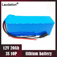 laudation 12V Battery Pack bms Batteria 20Ah 18650 Rechargeable Batteries pack For CCTV/Camera/Light high capacity free shipping