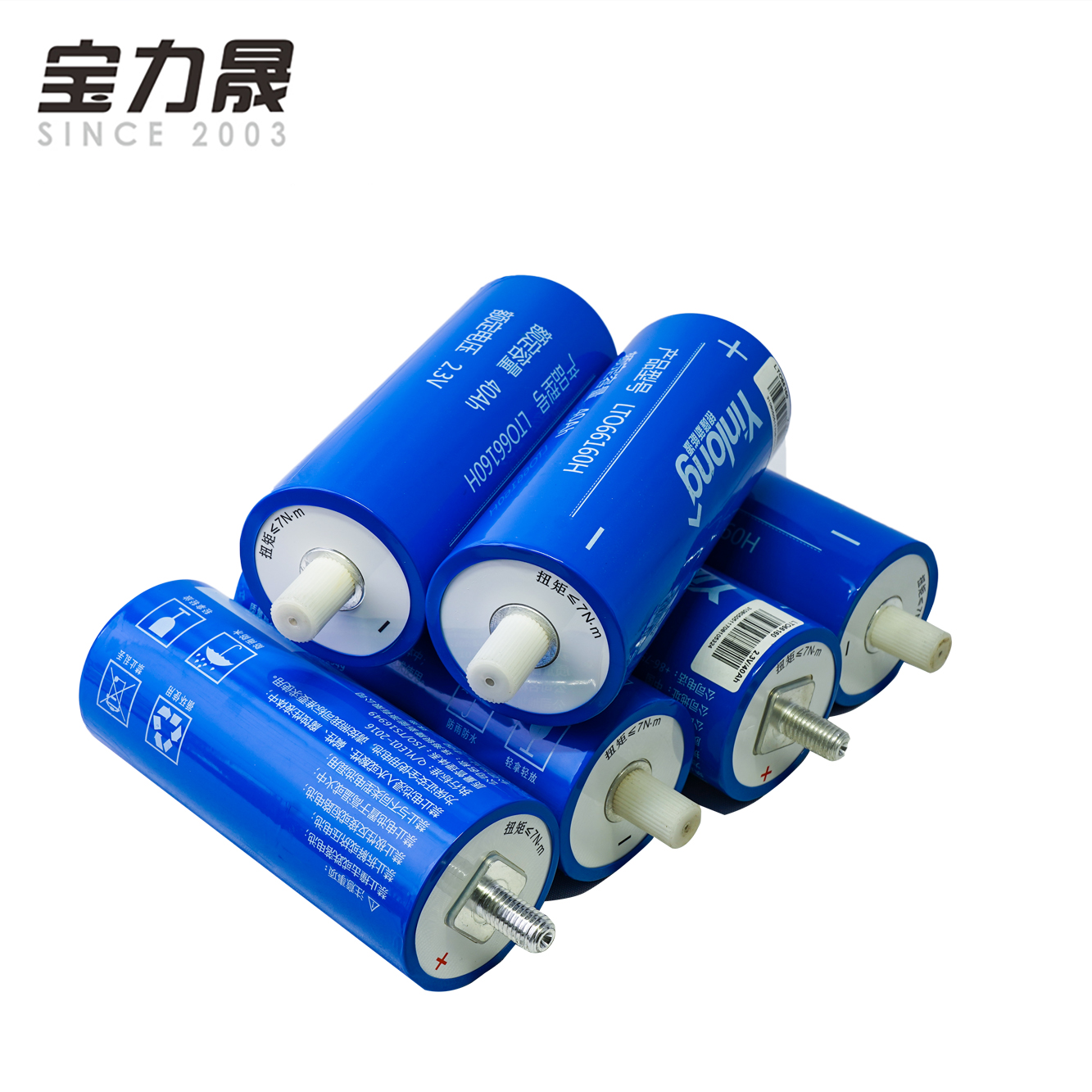 10pcs 2.3V 40AH with 10S 24V 100A BMS YINLONG LTO <font><b>66160</b></font> Lithium Titanate Battery Cell 2.4v 10C 400A for 12v 14.4v EV golf cart image