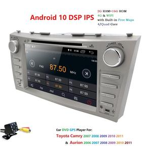 """Image 3 - 8 """"Android 10.0 Auto Stereo Dvd Radio Voor Toyota Camry Aurion 2007 2008 2009 2010 2011 Gps Navigatie Swc bt OBD2 2 Gb Ram + Camera"""