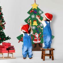 Рождественская елка DIY рождественская елка 3D Войлок для детей теплое детское украшение Рождественские украшения подарки на год дверь настенная