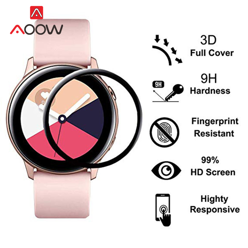 2pcs Screen Protective Film For Samsung Galaxy Watch Active2 40mm 44mm Active 2 3D Curved Clear Full Cover Film R830 R820 R500