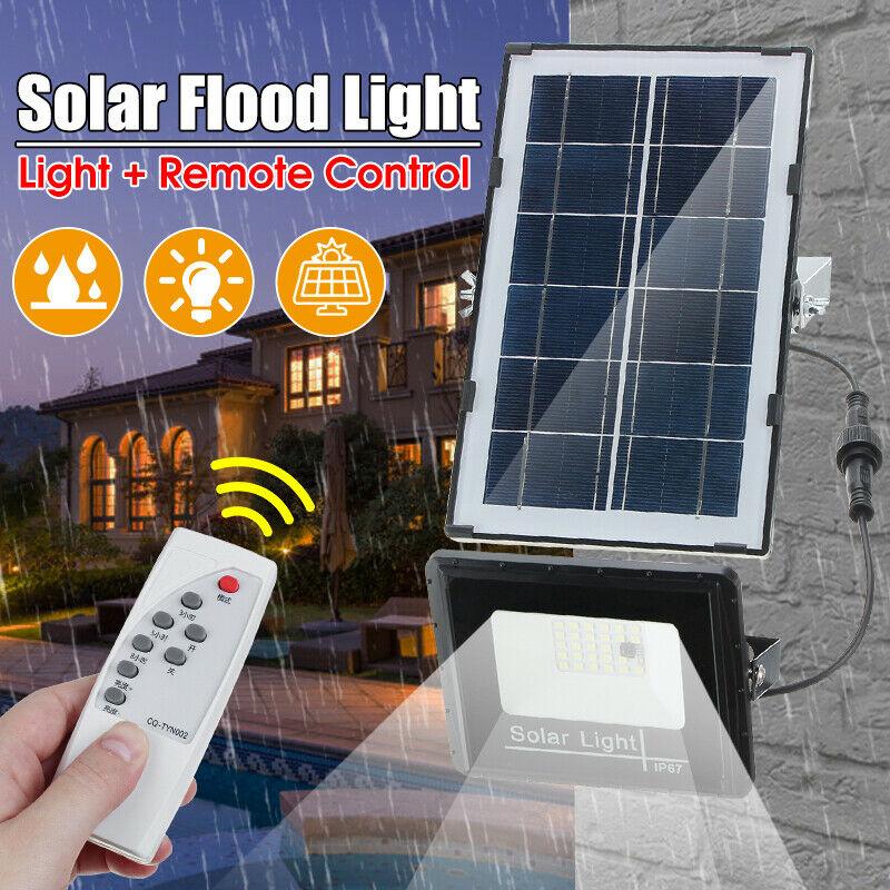 50W Solar Light Motion Detected LED Floodlight Spotlight Solar Lamp IP66 Outdoor For Park Garage Street