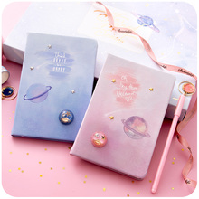 Lovefrom Kawaii Notebook Planet Notepad Lovely Planner Book Pink Color for Girls Stationery School Supply