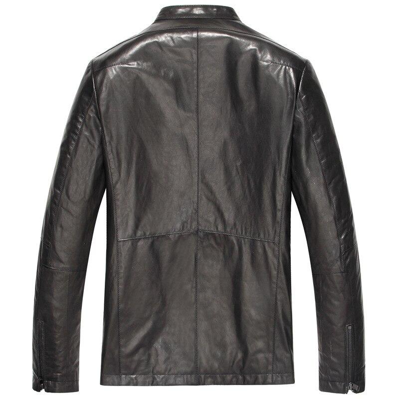 Genuine Leather Jacket Men Short 100% Sheepskin Coat Vintage Slim Leather Jackets 2020 Veste Cuir Homme 15S1420 KJ2428