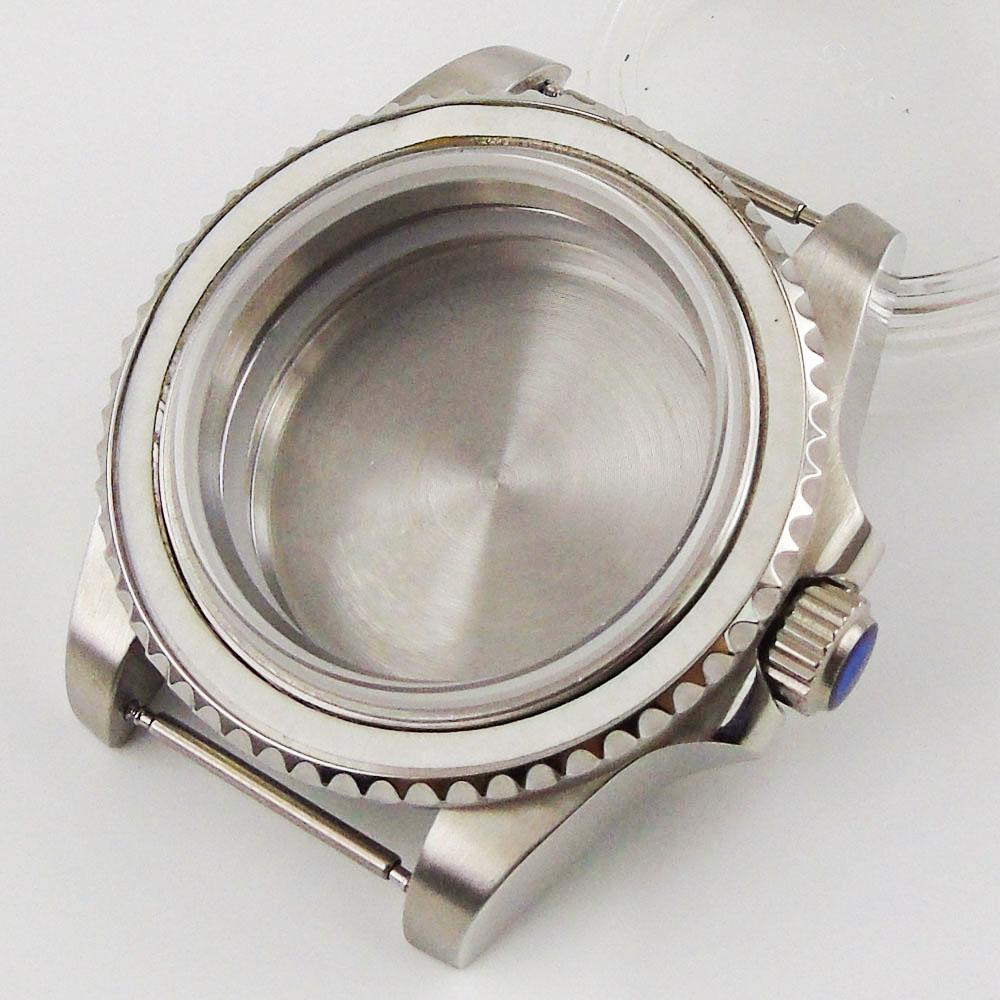 automático para nh35a nh36a movimento correia ostra safira parafuso coroa vidro