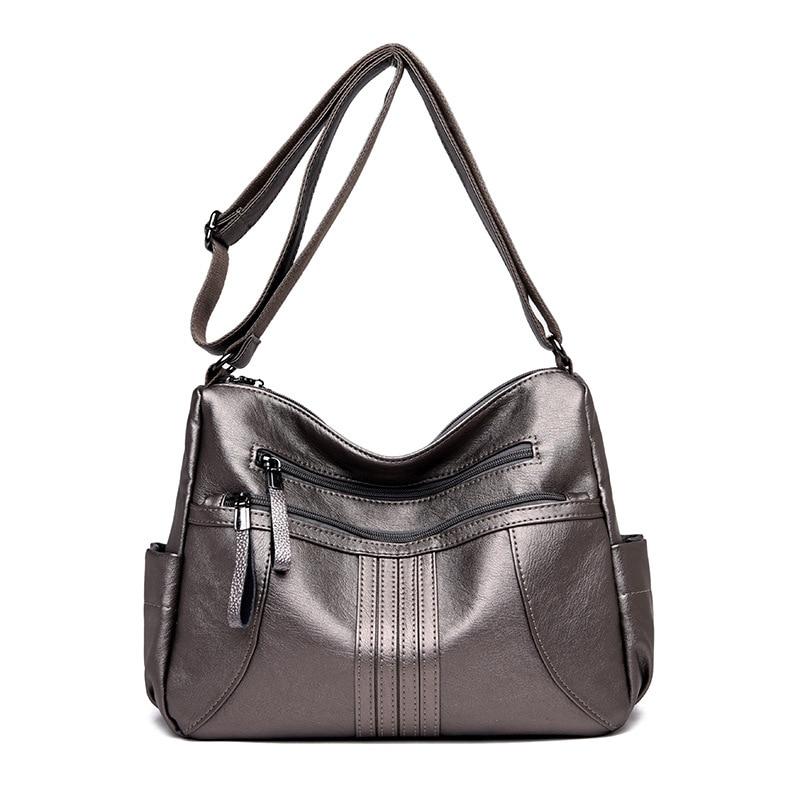 Premium Quality Gray Women Messenger Bag Female Crossbody Bags