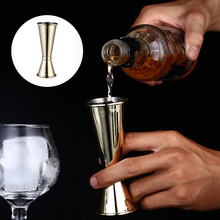 1PC Bartending Measuring Cup Stainless Steel Cocktail Shaker Measure Cup Dual Head Wine Measuring Cup Kitchen Bar Gadgets Jigger