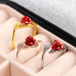 1PC Rose fleur cygne forme Crochet Crochet boucle tricot anneau accessoires tricot dé à coudre Guides de fil réglable doigt usure anneau
