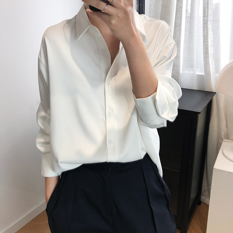 Sherhure 2020 New Women Summer Blouses Chic Design Satin Silk Womens Tops And Blouses Ladies Shirt Blusas Roupa Feminina