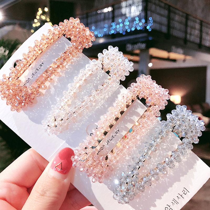 Bling Crystal Hairpins New INS Hair Clip For Women Fashion Hair Styling Accessories Barrette 2019 BB Clip Girl Accessories