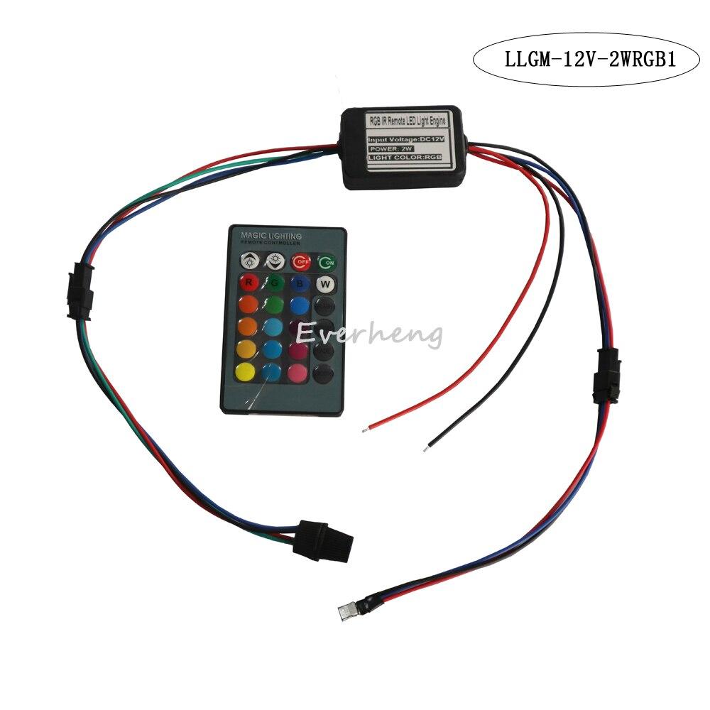 Usb5v 12v 2w Multi Colorful Led Light Source Engine IR Remote Control With 4 Led Bulb Head USB