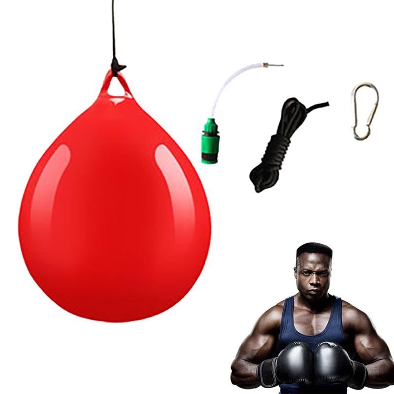 Water Heavy Bag With Water Injector Hook Sling Heavy Bag Water Punching Bag For Household Hanging Boxing (Random) 1set