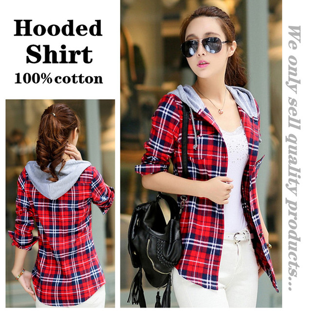 Plaid Hooded Shirt 1