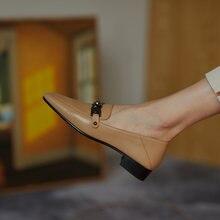 Osunlina 2021 модные женские туфли с квадратным носком на плоской