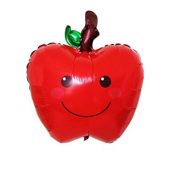 GloryStar Christmas Eve Red Apple Aluminum Balloon Christmas Window Decoration Balloon red eve