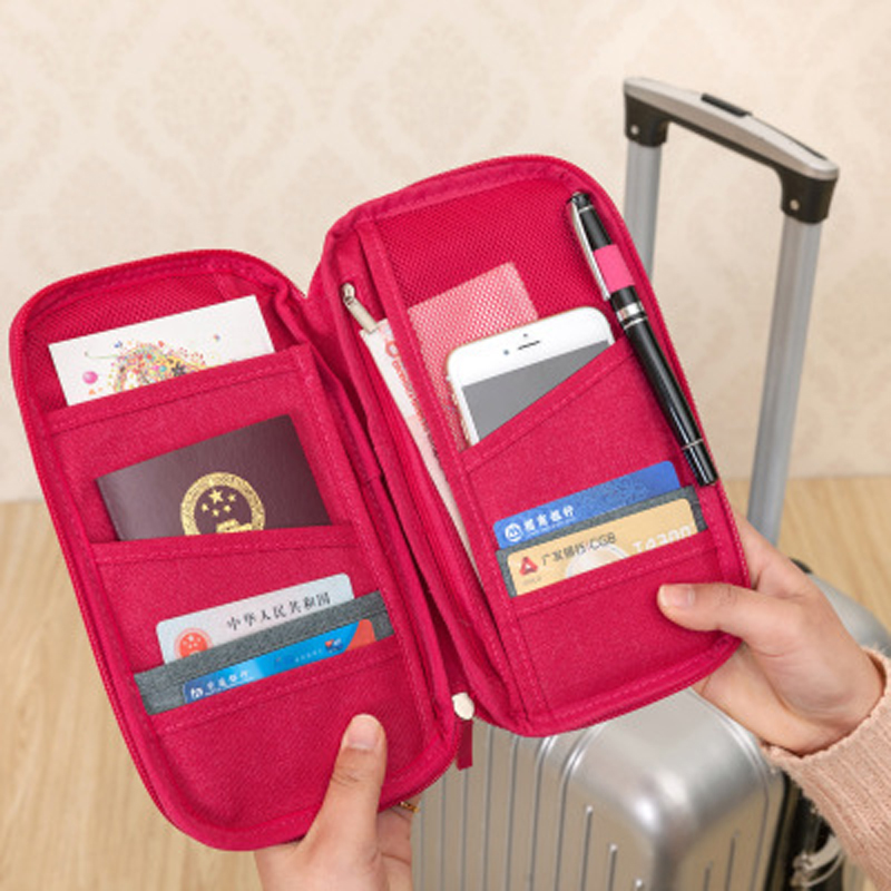 Family Passport Clip Waterproof Document Holder ID Card Holder Travel Card Holder Credit Card Storage Bag Travel Accessories