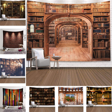 Tapestries Carpet-Cloth Wall-Blanket Bookshelf Psychedelic Library Bedroom Decor-Styles