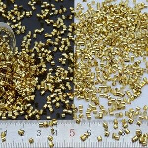 Image 5 - 500 グラム/ロット 2*3 ミリメートルシルバーベースbingsuビーズpailletteのパイプスパンコールセンター穴縫製pvc diyの縫製材料緩いスパンコール