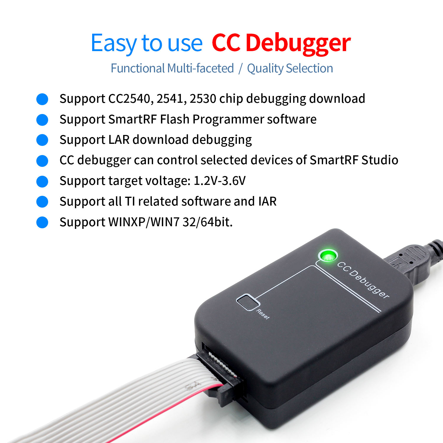 CC Debugger ZIGBEE Emulator Support Online Upgrade Original Shell Original Quality 2540 2541 2530 Protocol Analysis