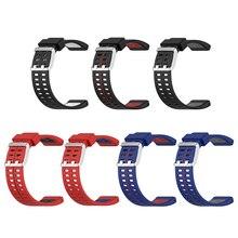 Correas de reloj de repuesto de silicona, elegante, elemento cómodo para Polar V800, correa de pulsera inteligente de doble Color