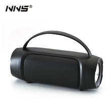 NNS NS-S8 Portable Bluetooth Speaker FM Radio With 1W Solar Panel Support USB TF Card AUX LED Flashlight Outdoor Mp3 Player