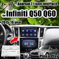 Lsailt Android 7.1 GPS navigation 3G RAM Video Interface unterstützung drahtlose carpaly/Android auto für Infiniti 2015 19 q50 Q60|Fahrzeug-GPS|   -