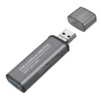 2In1 USB 3.0 Card Reader SD TF Card USB Micro-Interface Memory Card Simultaneously Reading Adapter for Computer Laptop Phone