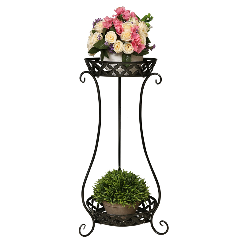 Art Flower Rack Double-deck Indoor A Living Room Balcony Multi-storey Simplicity Outdoor Ground  Flowerpot Shelves