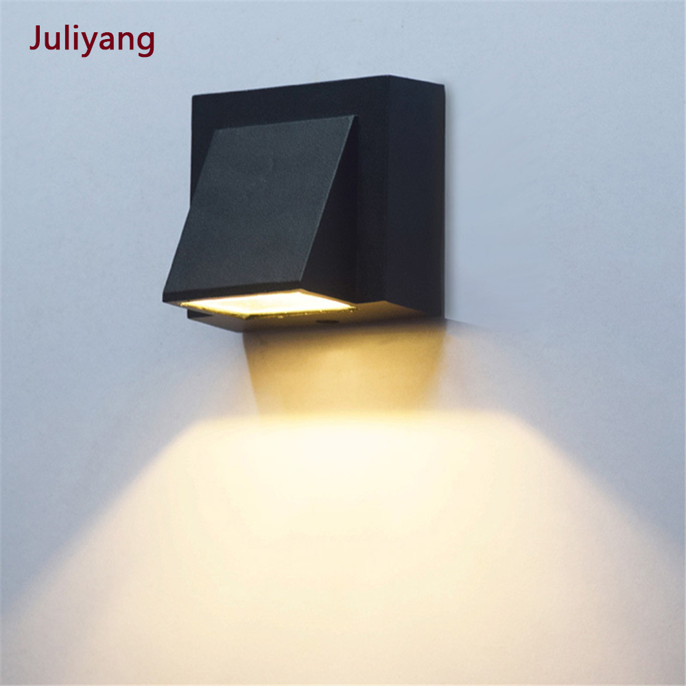 3W 6W Moderna semplice creativo esterno impermeabile lampada da parete A LED lampade cortile cancello lampada terrazza balcone applique da parete da giardino luce