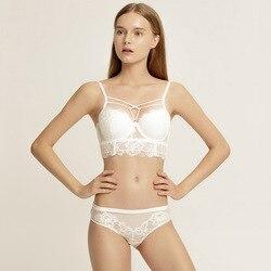 2020 nuevo diseño Bandage reúne sexy de encaje sujetador estampado y sujetador Conjunto para las mujeres