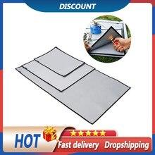 S/m/l acampamento à prova de fogo grill esteira pano chama retardador ember esteira cobertor almofada de isolamento térmico para churrasco piquenique ao ar livre